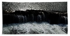 Turbulent Water Beach Towel