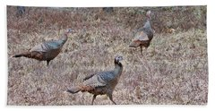 Beach Towel featuring the photograph Turkey Trio 1153 by Michael Peychich