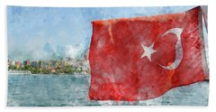 Turkish Flag Beach Sheet