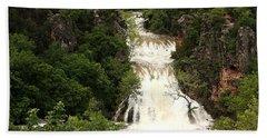 Turner Falls Waterfall Beach Towel