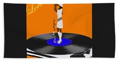 Turntable Love Beach Towel