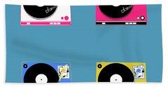 Turntable Pop Art 2 Beach Towel