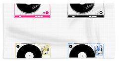 Turntable Pop Art Beach Towel