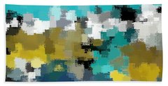 Turquoise And Gold Beach Towel