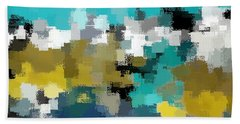 Turquoise And Gold Beach Sheet