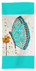 Turquoise Butterfly Beach Towel