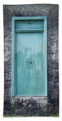 Turquoise Door Beach Sheet