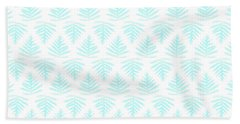 Turquoise Fern Array Small Beach Towel