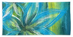 Turquoise Florals Beach Towel