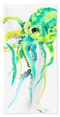 Turquoise Green Octopus Beach Towel