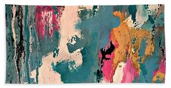 Turquoise Reflections No. 1 Beach Towel