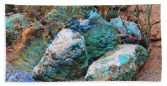 Turquoise Rocks Beach Towel