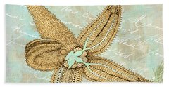 Turquoise Sea Starfish Beach Towel
