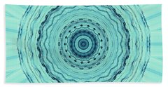 Turquoise Serenade Beach Towel by Sheila Ping