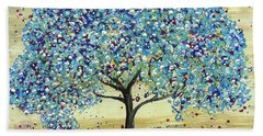 Turquoise Tree Beach Towel