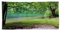Turquoise Zen - Plitvice Lakes National Park, Croatia Beach Sheet