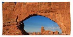 Turret Arch Through North Window  Beach Sheet
