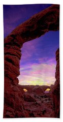 Beach Towel featuring the photograph Turret Arch To Windows by Norman Hall