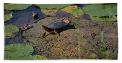 Turtle And Lily's Beach Towel