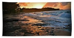 Turtle Bay Sunset 1 Beach Towel