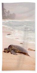 Turtle Beach Beach Towel by Heather Applegate