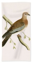 Turtle Dove Beach Towel by English School