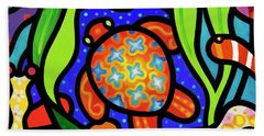 Turtle Reef Beach Towel