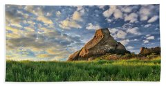 Turtle Rock At Sunset 2 Beach Towel by Endre Balogh
