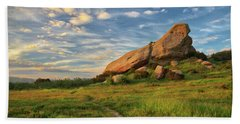 Turtle Rock At Sunset Beach Towel by Endre Balogh