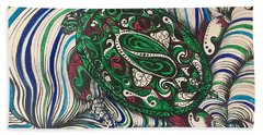 Turtle Time All Alone Beach Towel