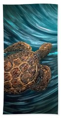 Turtle Wave Deep Blue Beach Towel
