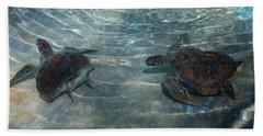 Turtles Quite Different Beach Towel