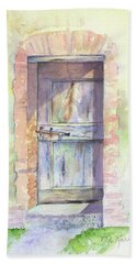 Tuscan Doorway Beach Sheet