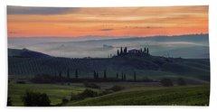 Beach Towel featuring the photograph Tuscan Dream by Yuri Santin