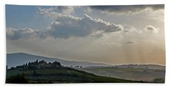 Beach Towel featuring the photograph Tuscan Hillside by Jean Haynes