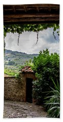 Beach Towel featuring the photograph Tuscan Street View by Jean Haynes
