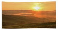 Beach Towel featuring the photograph Tuscan Sunrise by Yuri Santin