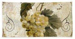 Tuscan Table Blanc Wine Beach Towel