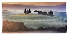 Tuscany Church On The Hill Beach Towel