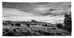 Tuscany In Bw Beach Towel