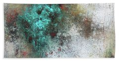 Tuscany Oil And Cold Wax Beach Sheet by Patricia Lintner