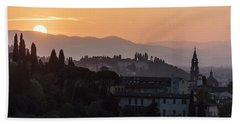 Tuscany Sunset In Florence Italy  Beach Towel
