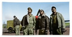 Beach Towel featuring the photograph Tuskegee Airmen by Granger