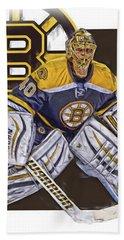 Tuukka Rask Boston Bruins Oil Art 1 Beach Sheet