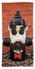 Beach Towel featuring the photograph Tuxedo Hydrant by James Eddy