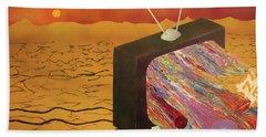 Tv Wasteland Beach Sheet by Thomas Blood