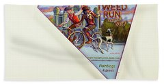 Tweed Run London 2 Guvnors  Beach Towel