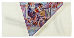Tweed Run London Princess And Guvnor  Beach Towel