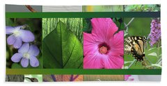 Beach Towel featuring the photograph Twelve Months Of Nature by Peg Toliver