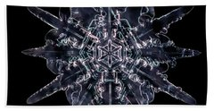 Twelve Sided Snowflake Beach Towel